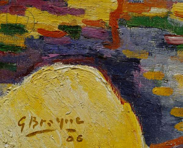 Braque signature, detail from L'Estaque, 1906 (oil on canvas_)
