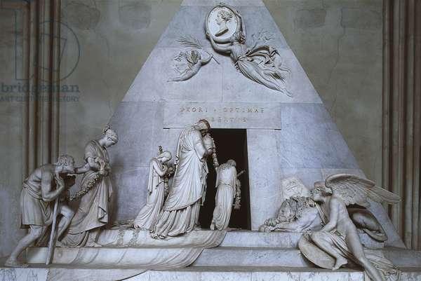 Statues on a tomb, Tomb Of Maria Christina, Augustinian Church, Vienna, Austria