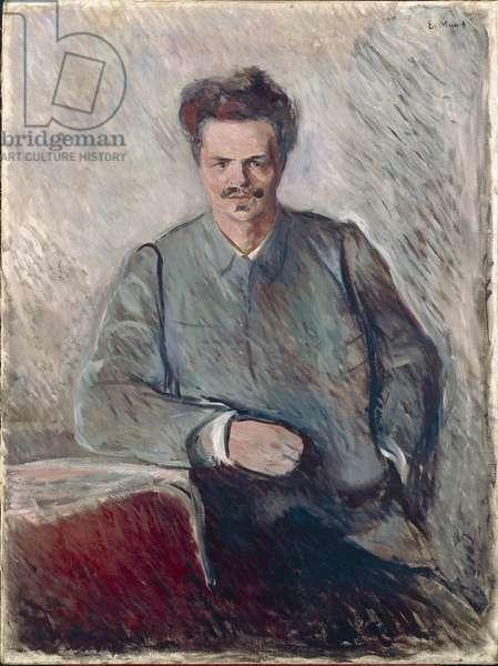Portrait of Johan August Strindberg (oil on canvas)