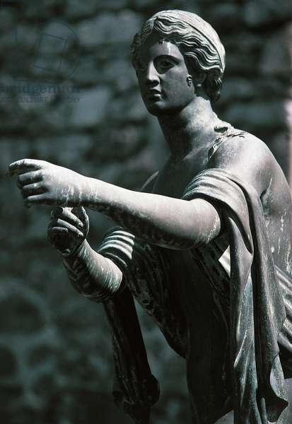 Statue of god, Pompeii (UNESCO World Heritage Site, 1997), Campania, Italy, Roman civilisation, 2nd-1st century BC