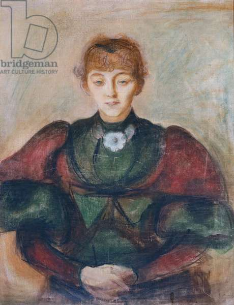 Portrait of Ragnhild Backstrom, 1894, by Edvard Munch (1863-1944), drawing and pastel on canvas, 87x70 cm. Norway, 19th century.