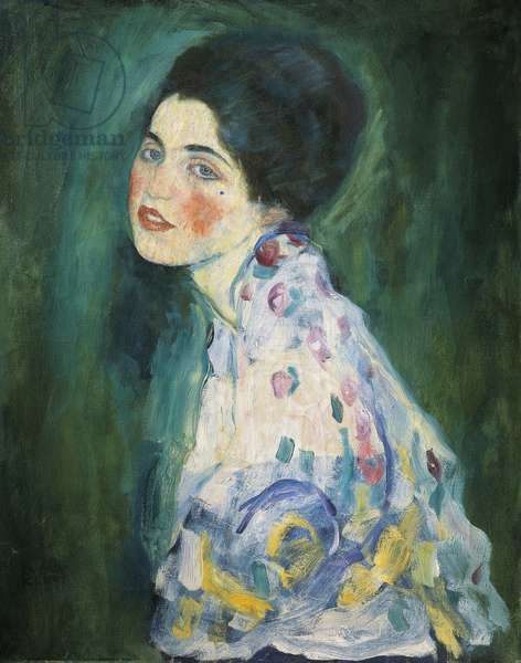 Portrait of a young woman, 1916-17 (oil on canvas)