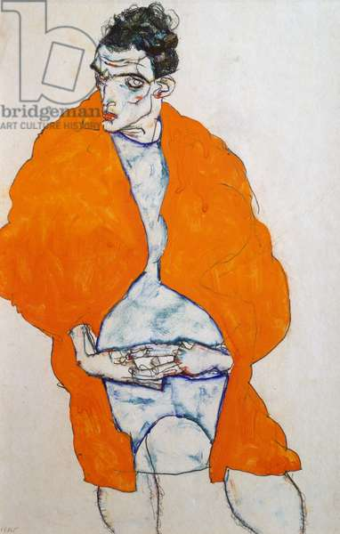 Self portrait, 1914 (pencil and gouache)