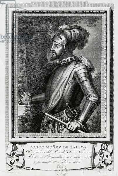 Portrait of Vasco Nunez de Balboa (Jerez de los Caballeros, 1475- Acla, 1519), Spanish explorer, governor and conquistador