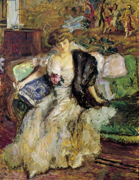 Misia Godebska, 1908, by Pierre Bonnard (1867-1947), oil on canvas, 147x114 cm. France, 20th century.