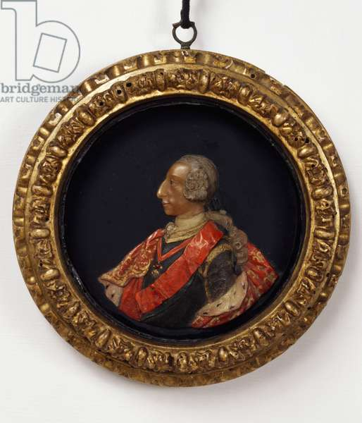 Portrait of Charles III of Bourbon (Madrid, 1716-1788) King of Spain, Polychrome wax