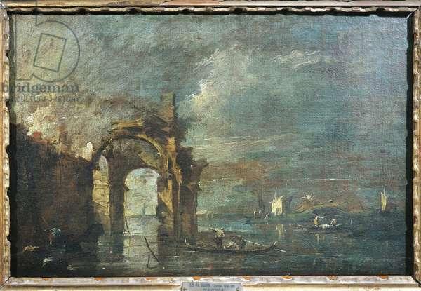 Italy, Verona, Ruined Arch