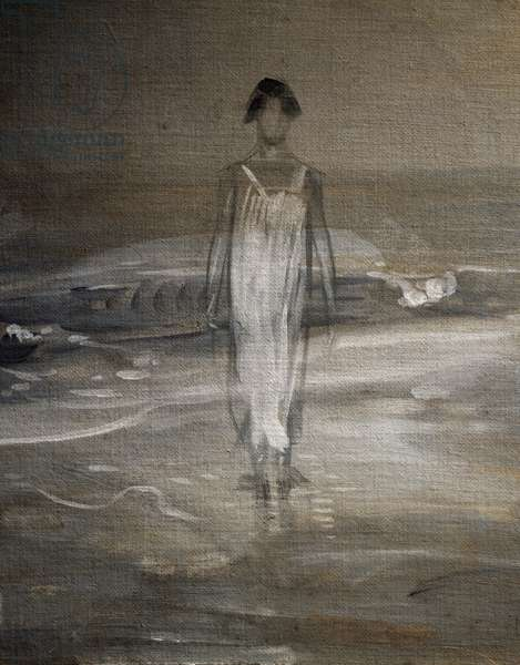 Woman on the foreshore, c.1910 (tempera on canvas)