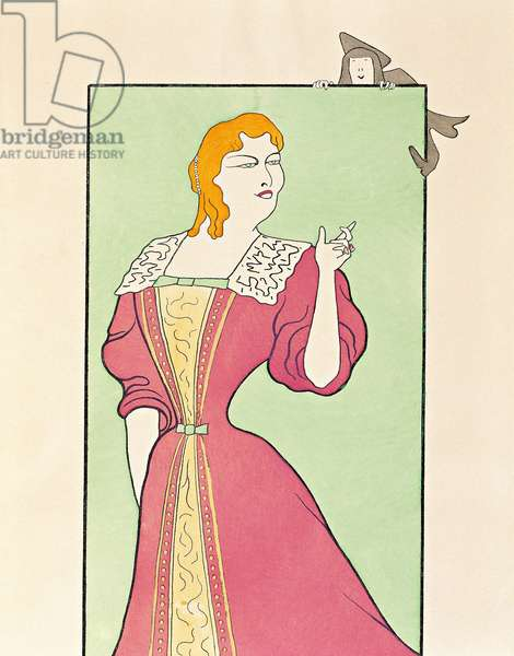 """The actor Marie-Louise (Marie Louise) Marsy (1866-1942) playing the character Elmire in the play """"Tartuffe ou l'imposteur"""" by MOliere (french play writer),1899 (drawing)"""