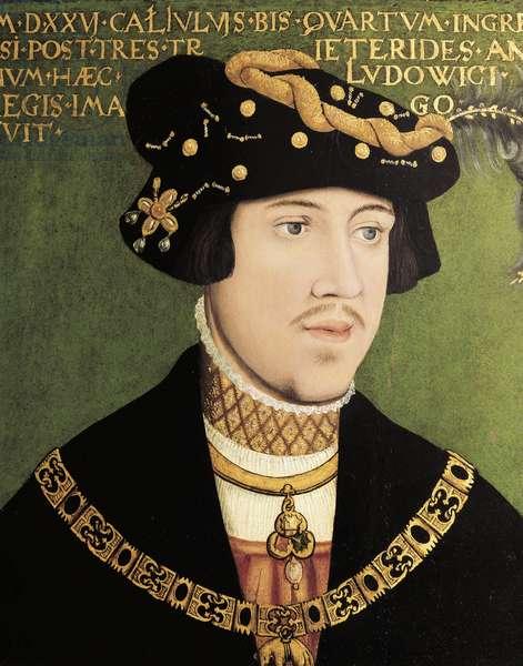Portrait of Louis II of Hungary, King of Hungary, Bohemia and Croatia (oil on panel)