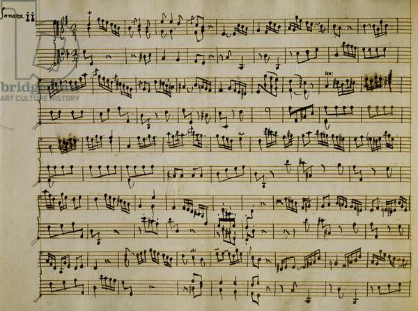Score for Sonata for Harpsichord, Opus 6, by Carl Philipp Emanuel Bach (1714-1788)