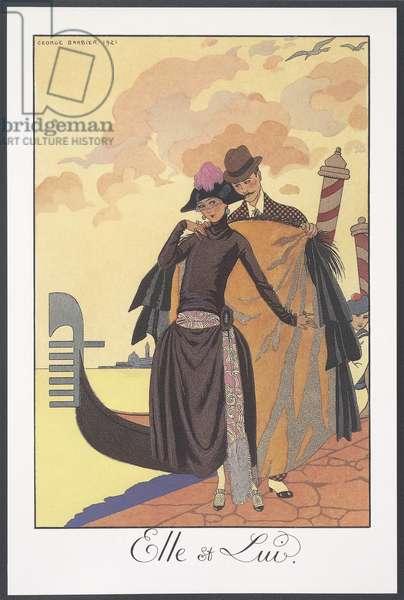 Falbalas et Fanfreluches, Almanac for 1924, Serenade, by George Barbier, print