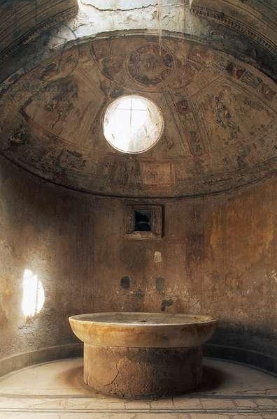 Apsed Calidarium, Forum Baths, Pompeii (UNESCO World Heritage Site, 1997), Italy, Roman civilization, 1st century BC-1st century AD