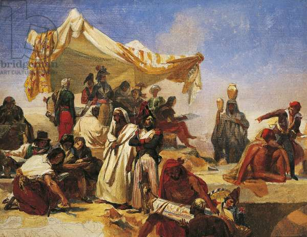 Egypt expedition under Bonaparte's Command, by Leon Cogniet (1794-1880). French Revolutionary Wars, Egypt, 18th century