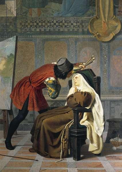 Filippo Lippi and nun Lucrezia Buti, by Gabriele Castagnola (1828-1883), oil on canvas, 1860