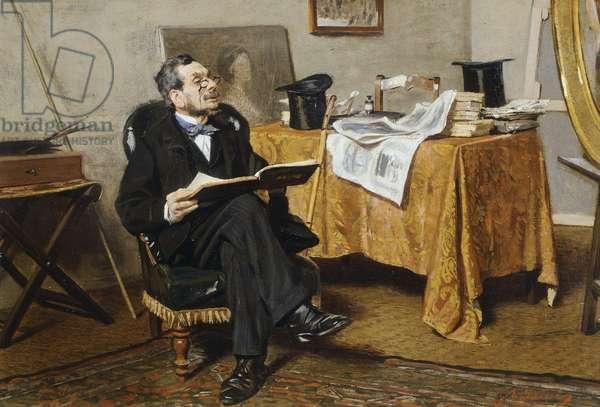 Interior with figure, by Giovanni Boldini, 1866