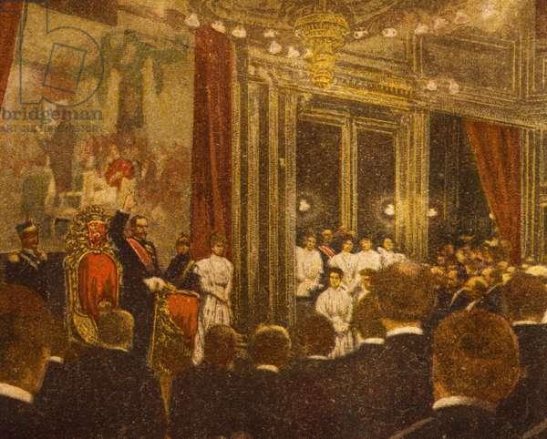 Swearing of alligence of new king of Norway, Haakon VII, 1906, Norway, 20th century