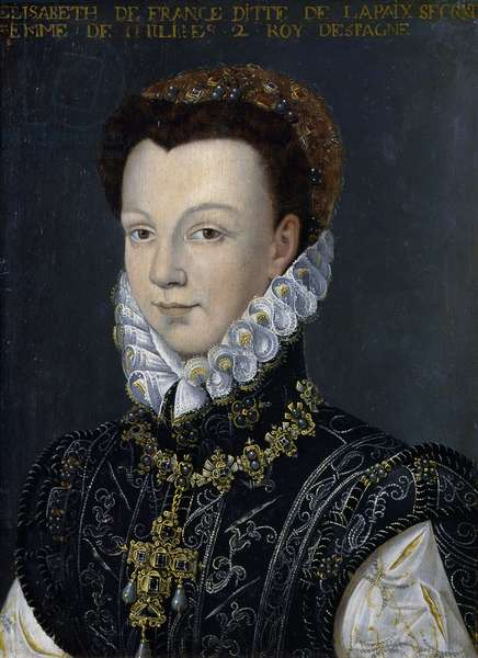 Elisabeth of France, Queen of Peace and Queen of Spain (1545-1568), painting on wood, 32x23 cm