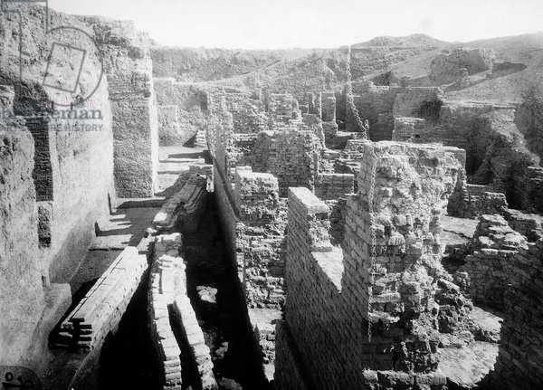 Southern clay walls and Sargon walls, Babylon, Iraq, 20th century
