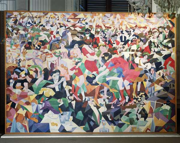 The Dance of the Pan-Pan at the Monico, original 1911 and replicated in 1959, Gino Severini (1883-1966), oil on canvas, 280x400 cm. Italy, 20th century.