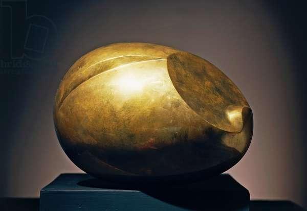 The newborn (Le nouveau ne'), ca 1923, by Constantin Brancusi (1876-1957), bronze sculpture. Romania, 20th century.