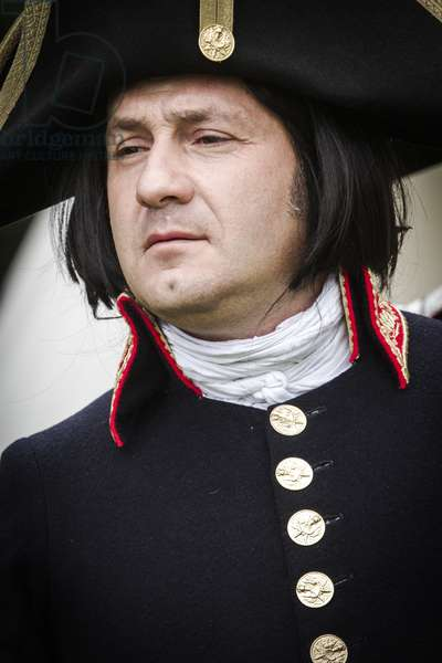 Historical reenactment: Napoleon Bonaparte, Italian campaign, 1796-1797. Napoleonic Wars, 18th century