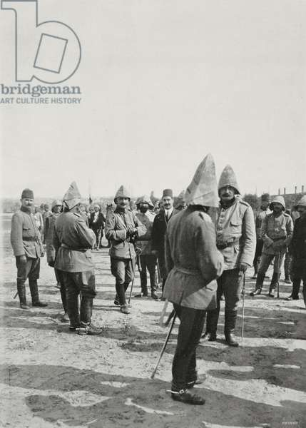 Enver Bey in Adrianople (Edirne) after being recaptured by Turkish troops, Turkey, Second Balkan War, photograph by Maurizio Galli, from L'Illustrazione Italiana, Year XL, No 33, August 17, 1913