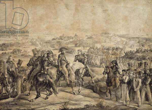 Battle of Maipu, April 5, 1818, by Theodore Gericault (1791-1824), drawing, Spanish-American War of Independence, Chile, 19th century