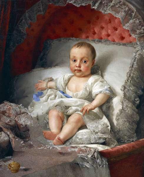 Portrait of the Infanta Carlota Joaquina de Bourbon, by Anton Raphael Mengs, 1775-1776, oil on canvas, 1728-1779, 77x63 cm