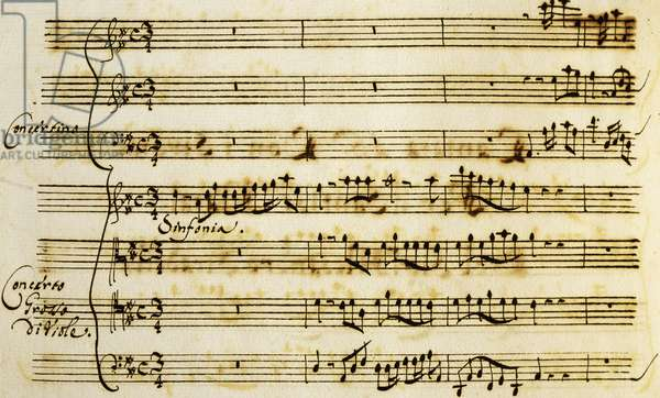 First page of Cantata for Holy Christmas, by Alessandro Stradella (1639-1682)