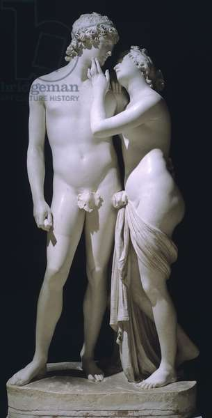Venus and Adonis by Antonio Canova (1757-1822), marble figure group, 1794