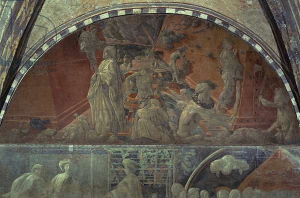 Flood waters and receding water by Paolo Uccello (1397-1475), Church of Santa Maria Novella, Florence