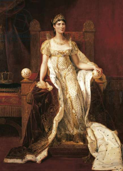 Portrait of Josephine Bonaparte, by Guillaume Guillon Lethiere, oil on canvas