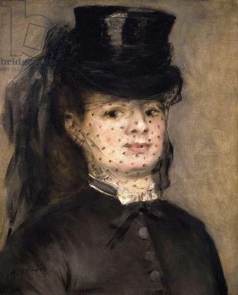 Portrait of Madame Paul Darras, by Pierre-Auguste Renoir, 1872, 1841-1919