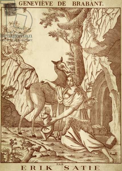Title page of marionette opera Genevieve de Brabant, by Erik Satie (1866-1925)
