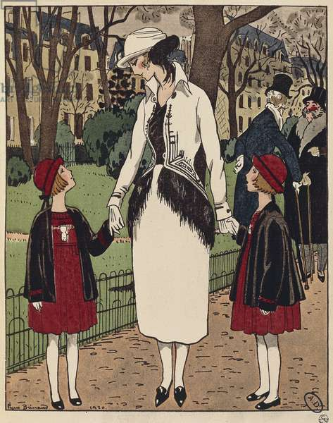 """Suits and dresses for children, from """"Le Bon Ton"""" magazine, by Jeanne-Marie Lanvin, 1920"""