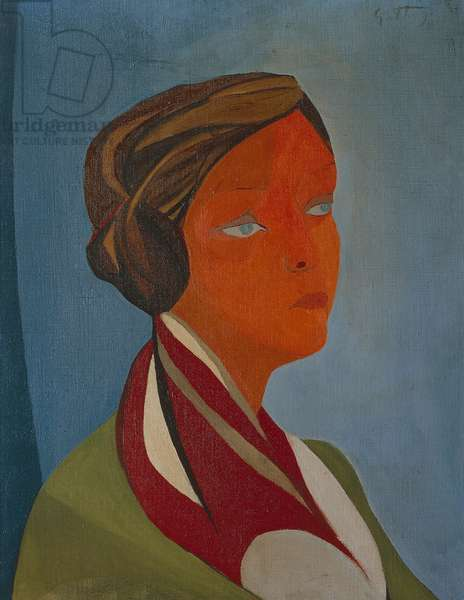 Portrait of Mimise, 1947, by Renato Guttuso (1911-1987), oil on canvas, 61x50 cm. Italy, 20th century.