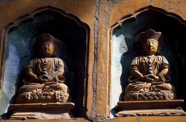Statues of Summer Palace or Yiheyuan, Beijing (UNESCO World Heritage List, 1998), China, 18th century