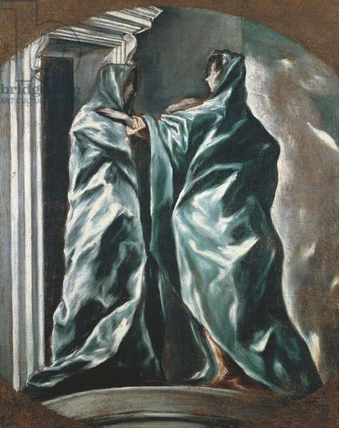 The Visitation, 1607-1614, by El Greco (1541-1614), oil on canvas