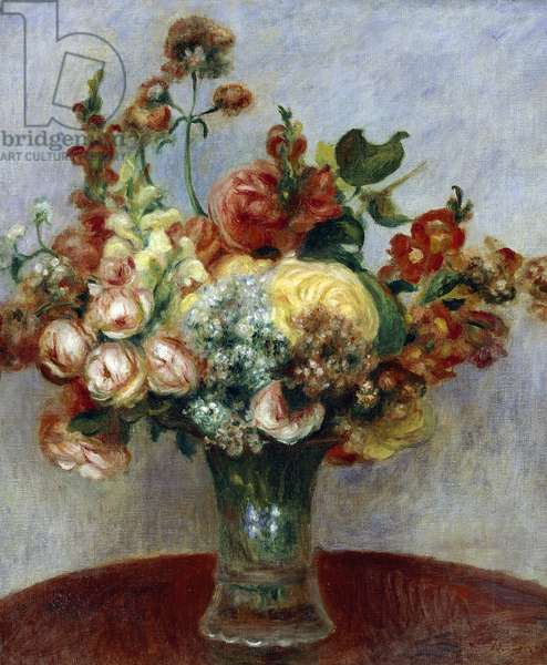 Flowers in a Vase, by Pierre-Auguste Renoir, 1898, oil on canvas, 1841-1919, 55x46 cm