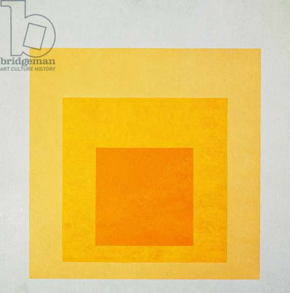 Homage to the Square, illuminated landscape, by Josef Albers (1888-1976). Germany, 20th century.