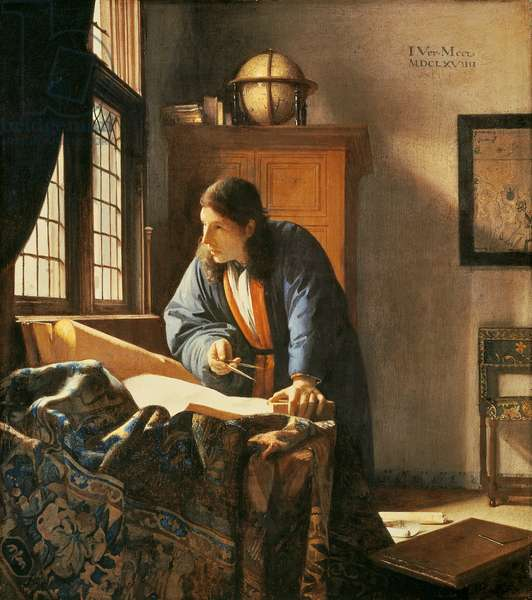 Geographer, 1669 (oil on canvas)