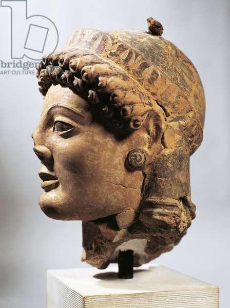 Greek civilization, head of kore, circa 510 B.C.