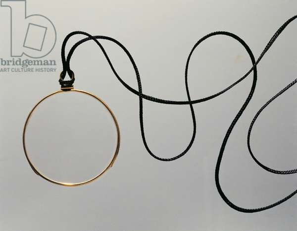 Monocle known as gallery with lanyard, 1920s, 20th century