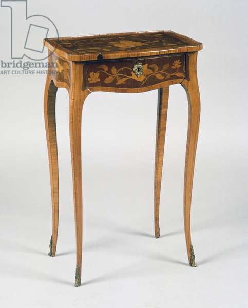 Louis XV style table with inlays, France, 18th century