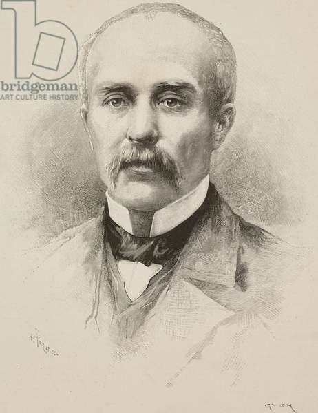 Portrait of Georges Clemenceau (1841-1929), French politician, illustration from L'Illustration, No 2636, September 2, 1893