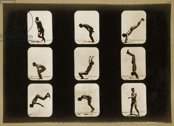 Athletes, Irregular, from the 'Animal Locomotion' series, c.1881 (b/w photo)