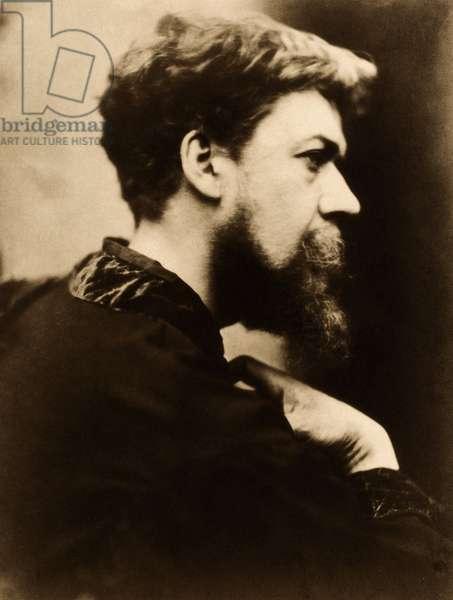 Self portrait of David Wilkie Wynfield (1837 – 1887), (photo)