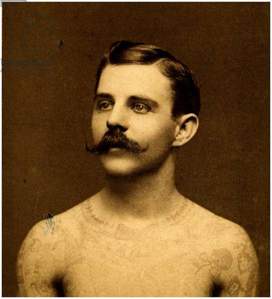 Frank Howard the tattooed man, c.1900 (cabinet card)