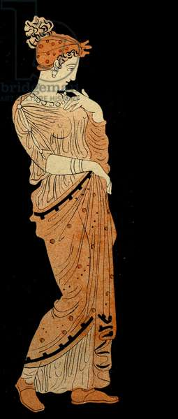 A Boeotian Woman, Illustration from Notor's Lysistrata,  1898 (litho)